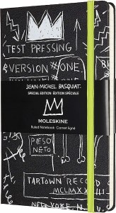 """Basquiat Moleskine Limited Edition Notebook Hard Cover Large 5"""" x 8.25"""" Ruled/Lined"""