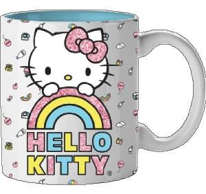Hello Kitty Rainbow Glitter 14oz Mug