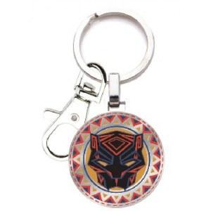 Black Panther Logo Enamel Keychain