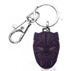 Black Panther Mask Enamel Keychain