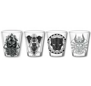 Black Panther Wakanda Forever 4pc 1.05oz. Mini Glass Set