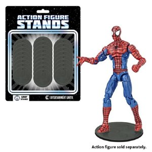 Entertainment Earth 25 Count Gray Action Figure Stands