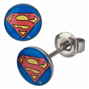 DC Comics Superman Symbol Stud Earrings
