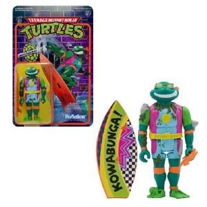 Teenage Mutant Ninja Turtles ReAction Mike the Sewer Surfer Action Figure