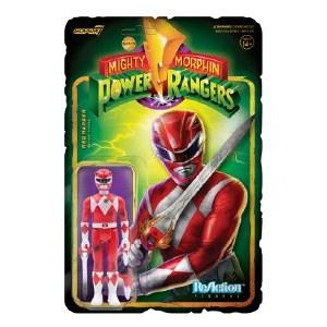 Mighty Morphin Power Rangers ReAction Red Ranger Battle Damaged Action Figure