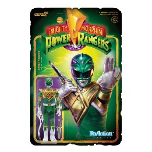 Mighty Morphin Power Rangers ReAction Green Ranger Battle Damaged Action Figure
