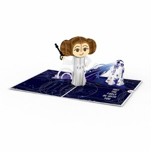 LovePop Star Wars Leia Birthday Greeting Card