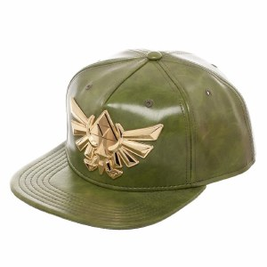 Triforce Green Leather Snapback