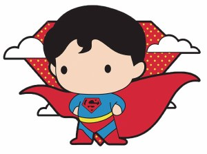 DC Chibi Superman Pin