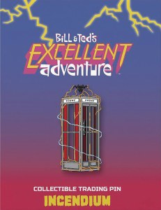 Bill and Ted's Excellent Adventure Phone Booth Lapel Pin