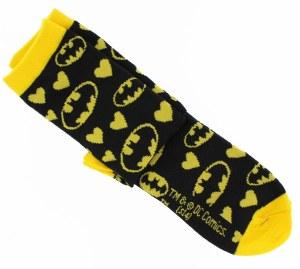 Batman Hearts/Logos Junior Crew Socks