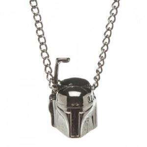 Star Wars Boba Fett 3D Gunmetal Necklace