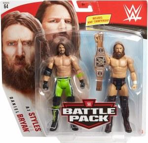 WWE S64 AJ Styles/Daniel Bryan Action Figure 2 Pack