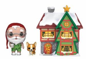 POP Town Peppermint Lane Santa's House with Santa and Nutmeg Vinyl Figure
