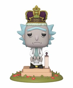 POP Animation Rick and Morty King of S#!+ Deluxe Vinyl Figure w/ Sound