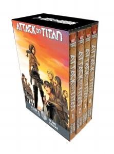 Attack on Titan Season 1 Part 1 Vols 1-4 Box Set