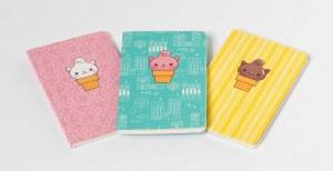 Kitty Cones 3 Pack Mini Journals