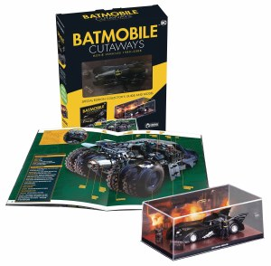 Batmobile Cutaways 1989-2012 Box with Collectible Vehicle
