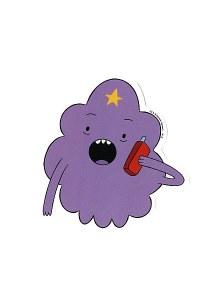 Adventure Time Lumpy Space Princess on the  Phone Sticker