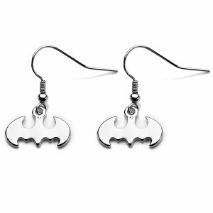 Batman Silver Hook Earring