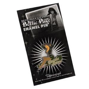 Bettie Page Bombs Away Enamel Pin