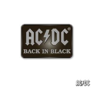 AC DC Logo Back In Black Enamel Pin