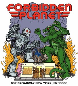 Forbidden Planet Kaiju Battle Sticker