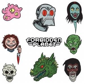 Forbidden Planet Kaiju Sitcker Set