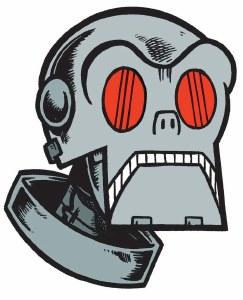 Forbidden Planet Planetron Sticker