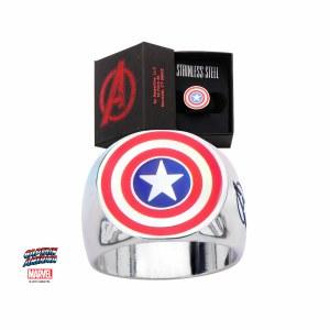 Captain America Shield Steel Ring Size 9