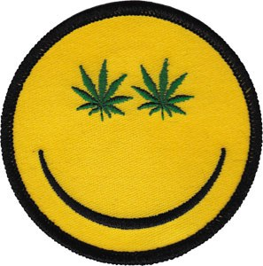 Weed Indeed Pot Smiley Patch