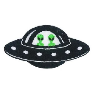 UFO with Aliens Patch