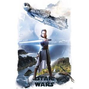 Star Wars Episode VIII The Last Jedi Rey and Millennium Falcon Poster