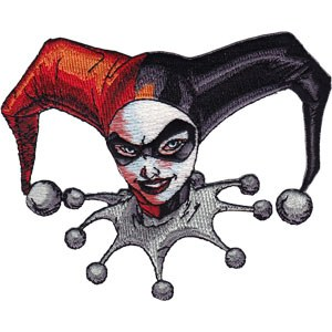 DC Comics Harley Quinn Head Patch