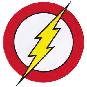 DC Flash Logo Back Patch