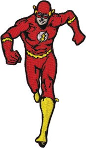 DC Comics Flash Running Patch