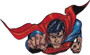 DC Comics Superman Flying Fist Patch