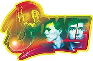 Bowie Faces Sticker