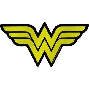 DC Glitter Wonder Woman Logo Sticker