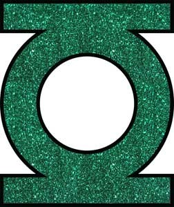 DC Green Lantern Glitter Sticker