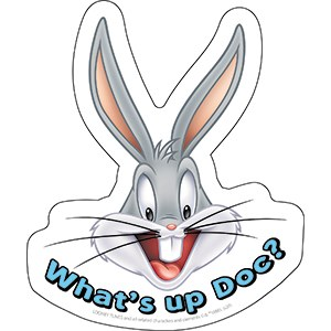 Looney Tunes Bugs Bunny What's Up Doc Sticker