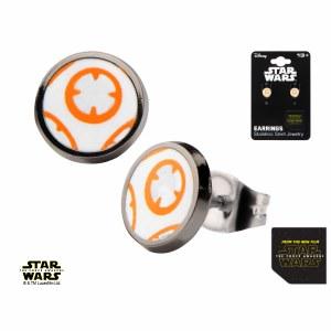 Star Wars Episode 7 BB8 Droid Stud Earrings