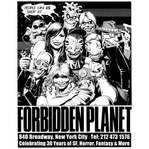 Forbidden Planet Brian Bolland Anniversary T-shirt Small