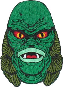 Creature From The Black Lagoon Head Patch 2 inch