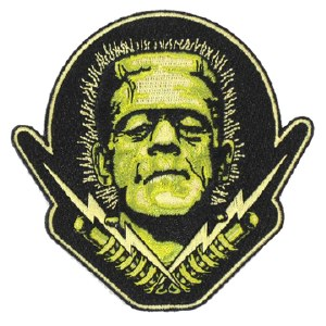Universal Monsters Frankenstein Head With Lighting Bolts Patch