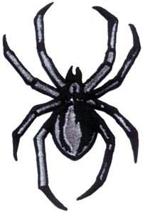 Black Widow Spider Black Patch