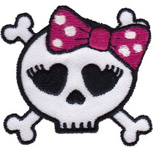 Skull With a Bow Patch