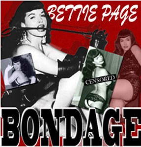 Bettie Page Bondage Sticker