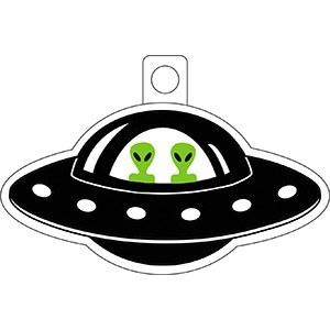 Alien In UFO Sticker