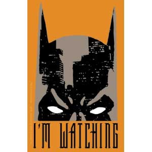 Batman Im Watching Orange Sticker